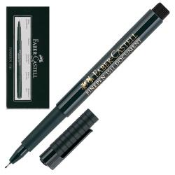 Ручка капиллярная 0,4 Faber-Castell Finepen 1511 151199 черный картонная коробка