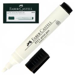 Ручка пишущий узел 2,5мм, цвет чернил белый Pitt Artist Pen Bullet Nib Faber-Castell 167601