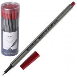 Ручка капиллярная 0,4 BrunoVisconti BASIC 36-0009 красный пластиковый бокс