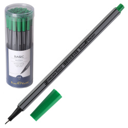 Ручка капиллярная 0,4 BrunoVisconti BASIC 36-0010 зеленый пластиковый бокс