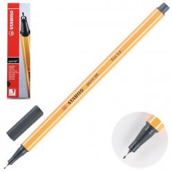 Ручка капиллярная 0,4 Stabilo Point 88/46 черный картонная коробка