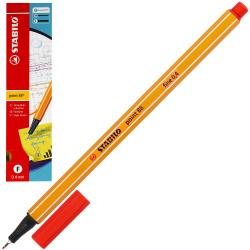 Ручка капиллярная 0,4 Stabilo Point 88/40 красный картонная коробка