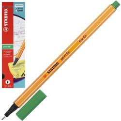 Ручка капиллярная 0,4 Stabilo Point 88/36 зеленый картонная коробка