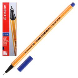 Ручка капиллярная 0,4 Stabilo Point 88/41 синий картонная коробка