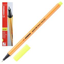 Ручка капиллярная 0,4 Stabilo Point 88/024 неоновый желтый картонная коробка