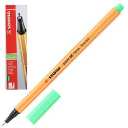 Ручка капиллярная 0,4 Stabilo Point 88/033 неоновый зеленый картонная коробка