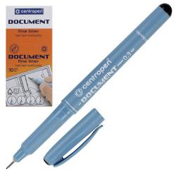 Ручка капиллярная, пишущий узел 0,3мм, цвет чернил черный Centropen 2631/01-12(2)
