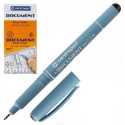Ручка капиллярная, пишущий узел 0,5мм, цвет чернил черный Centropen 2631/01-12(3)