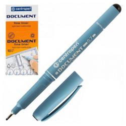 Ручка капиллярная, пишущий узел 0,7мм, цвет чернил черный Centropen 2631/01-12(4)