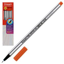 Ручка капиллярная, пишущий узел 0,8мм, цвет чернил оранжевый Fine Writer Luxor 7125