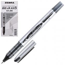 Ручка-роллер 0,5 Zebra ZEB-ROLLER DX5/AX5 одноразовая 306 113010 829057 черный картонная коробка