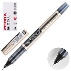 Ручка-роллер 0,7 Zebra ZEB-ROLLER DX7 одноразовая 306 112010 829052 черный картонная коробка