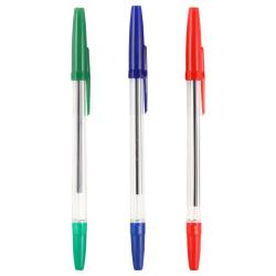 Набор шариковых ручек 3 цвета, 3шт, 1,0мм, ассорти 3 цвета Оптима Стамм РО06