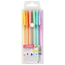 Набор шариковых ручек 1цв 6шт 0,7мм тонированный корпус deVENTE Pastel 5073920 синие пласт/уп