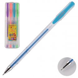 Набор гелевых ручек 4цв 4шт 0,8мм флуоресцентные прозрачный корпус deVENTE Cosmo Fluo 5051406 пласт/уп