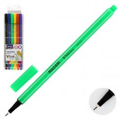 Набор линер-ручек 6цв 6шт 0,4мм цветной корпус Mazari VIVO LINE M-5368- 6 европодвес пласт/уп