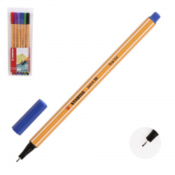 Набор капиллярных ручек 6цв 6шт 0,4мм желтый корпус Stabilo 88/6 европодвес пласт/уп