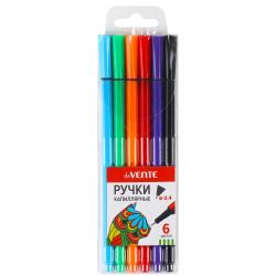 Набор капиллярных ручек 6цв 6шт цветной корпус 0,4мм deVENTE 5060902 европодвес пласт/уп