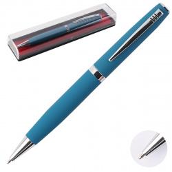 Ручка шариковая подарочная голубой корпус поворотный механизм deVENTE Navigator 9021949 синяя пластиковая упаковка