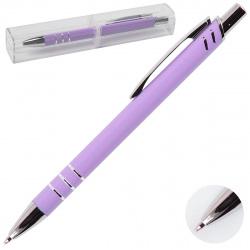 Ручка шариковая подарочная сиреневый корпус нажимной механизм deVENTE Abris 9021943 синяя пластиковая упаковка