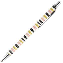 Ручка шариковая подарочная цветной корпус нажимной механизм BrunoVisconti Felicita Полоска 20-0263/03 синяя картонный футляр