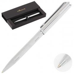 Ручка шариковая, подарочная, пишущий узел M (medium) 1мм, корпус круглый, цвет чернил синий Vasto Manzoni VAS3113-B