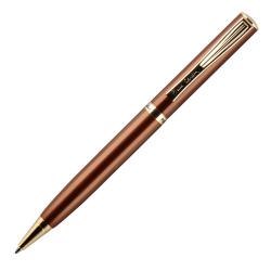 Ручка шариковая подарочная коричневый корпус поворотный механизм Pierre Cardin ECO PC0866BP синяя картонный футляр