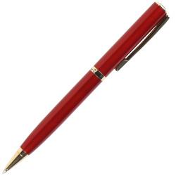 Ручка шариковая подарочная красный корпус поворотный механизм Pierre Cardin ECO PC0870BP синяя картонный футляр