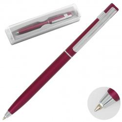 Ручка шариковая подарочная вишневый корпус поворотный механизм Pierre Cardin EASY PC5911BP синяя пластиковый футляр