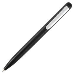 Ручка шариковая подарочная черный глянцевый корпус поворотный механизм Pierre Cardin TECHNO PCS20811BP синяя картонный футляр