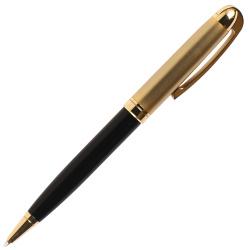 Ручка шариковый подарочная черный с золотой отделкой корпус поворотный механанизм Pierre Cardin GAMME PC0833BP синяя картонный футляр