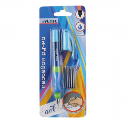 Ручка перо deVENTE М(Medium) Easy Writer+ 2 картриджа корпус ассорти 5100600