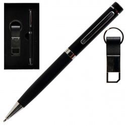 Набор 2пр ручка, брелок 210004 KLERK черн