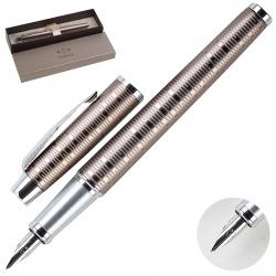 Ручка перьевая PARKER IM Premium Brown Shadow FP F корпус алюминиевый 1906777