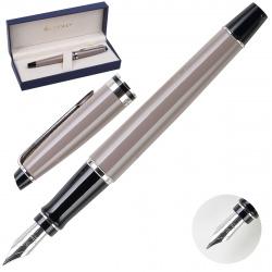 Ручка перьевая Waterman Expert Taupe CT FP F лак корпус латунь/хром S0952140 синяя