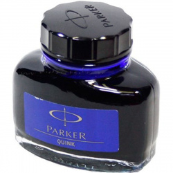 Чернила объем 57мл, цвет чернил темно-синий, упаковка банка  Bottle Quink Parker 1950378