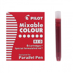 Картридж Pilot IC-P3-S6 (R)/01751 6 штук красный