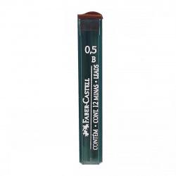 Грифель 0,5мм B 12шт Faber-Castell Polymer 521501