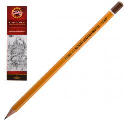 Карандаш Н деревянный шестигранный заточенный KOH-I-NOOR 1500 Н/С00809