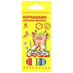 Карандаши цветные 6цв Каляка-Маляка шестигранные мини КККМ06 европодвес картонная коробка