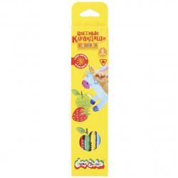 Карандаши цветные 6цв Каляка-Маляка трехгранные ароматизированные КТКМ6А европодвес картонная коробка