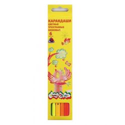 Карандаши цветные 6цв Каляка-Маляка трехгранные неоновые КТНКМ06 европодвес картонная коробка