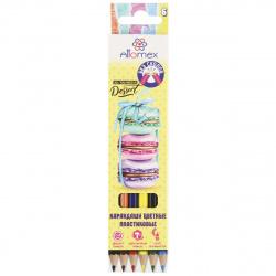 Карандаши цветные пластиковые 6цв Attomex Сказка шестигранные 5021611 европодвес картонная коробка