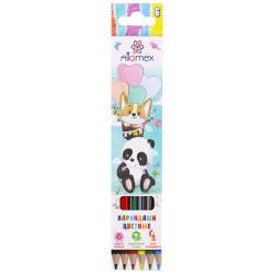 Карандаши цветные 6цв deVENTE Zoo шестигранные 5021810 европодвес картонная коробка