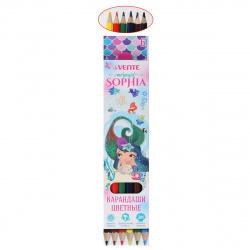 Карандаши цветные 6цв deVENTE Mermaid Sophia шестигранные 5021000 европодвес картонная коробка