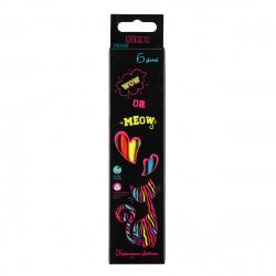 Карандаши цветные 6цв КОКОС ERGO First Cat neon трехгранные 205859 европодвес картонная коробка
