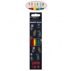 Карандаши цветные 6цв КОКОС Dino трехгранные 205871 европодвес картонная коробка