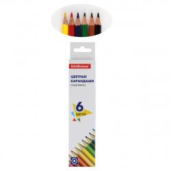 Карандаши цветные 6цв Erich Krause Basic шестигранные 50528 европодвес картонная коробка
