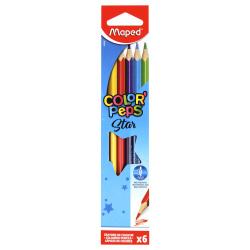 Карандаши цветные 6цв Maped Color'peps трехгранные 832002 европодвес картонная упаковка