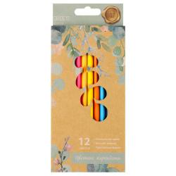 Карандаши цветные 12цв КОКОС ERGO First Flowers трехгранные 210722 европодвес картонная коробка